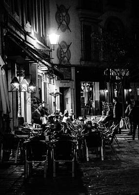 Streets Of Seville At Night 6  Art Print by Andrea Mazzocchetti