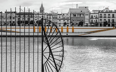 Photograph - Streets Of Seville - Calle Betis by Andrea Mazzocchetti