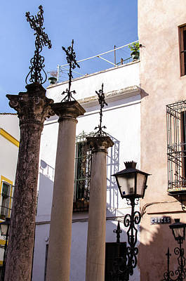 Photograph - Streets Of Seville - Calle Cruces 2 by Andrea Mazzocchetti
