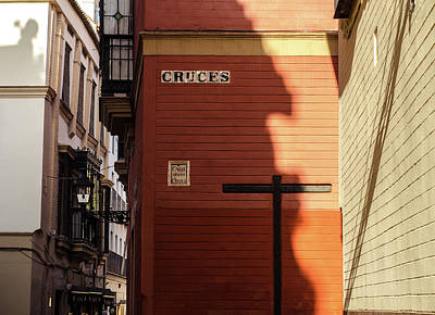 Photograph - Streets Of Seville - Calle Cruces by Andrea Mazzocchetti