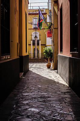 Photograph - Streets Of Seville - Calle De Las Cruces by Andrea Mazzocchetti