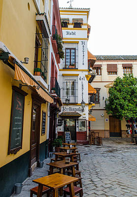 Architecture Photograph - Streets Of Seville - Colors Of Spain 2 by Andrea Mazzocchetti