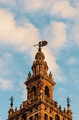 Painting - Streets Of Seville, Giralda - 03 by Andrea Mazzocchetti