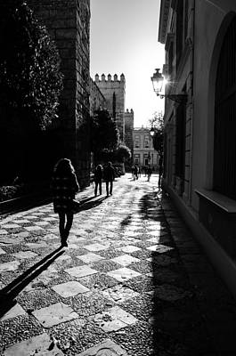 Photograph - Streets Of Seville In Black And White  by Andrea Mazzocchetti