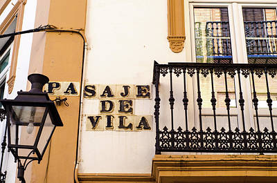 Streets Of Seville - Pasaje De Vila Art Print