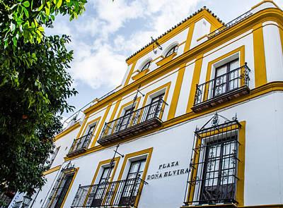 City Scenes Photograph - Streets Of Seville - Plaza Dona Elvira by Andrea Mazzocchetti