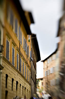 Window Photograph - Streets Of Siena by Marilyn Hunt