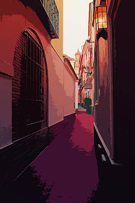 Painting - Streets Of Spain - A View From Seville by Andrea Mazzocchetti