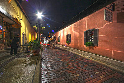 Streets Of St Augustine Art Print