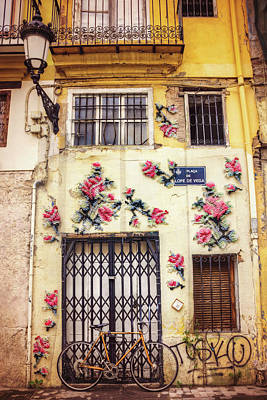 Streets Of Valencia  Art Print by Carol Japp