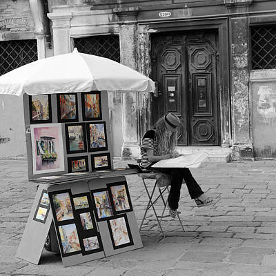 Photograph - Streets Of Venice 7b by Andrew Fare