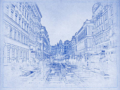 Streetscape Digital Art - Streets Of Vienna by Kaleidoscopik Photography