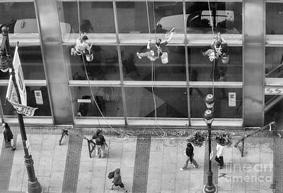 Photograph - Streets Photography Window Washers  by Chuck Kuhn