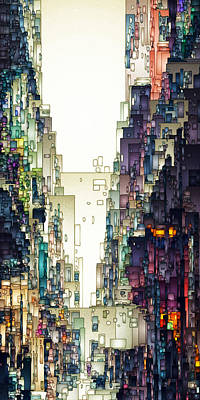 Digital Art - Streetscape 1 by David Hansen