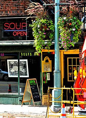 Streetscape 1 Soup Art Print by Gary Everson