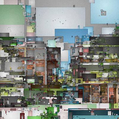 Digital Art - Streetscape 3 by David Hansen