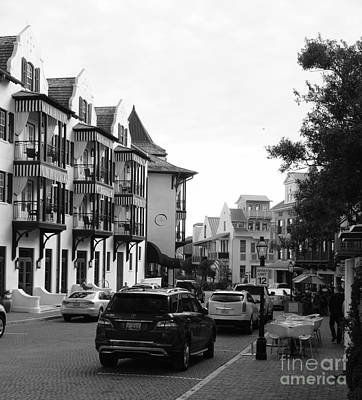 South Walton Photograph - Streetscape In Rosemary Beach by Megan Cohen