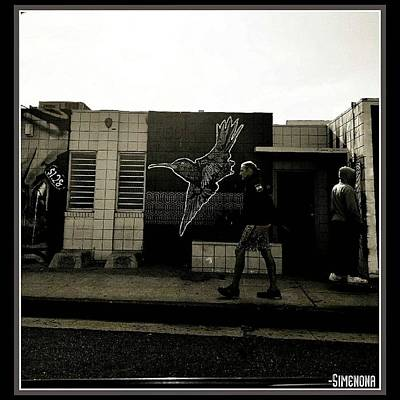 Mixed Media - Streetscape by Simenona Martinez