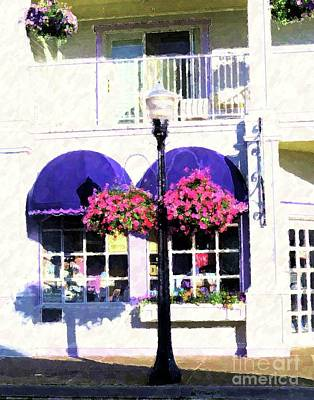 Painting - Streetside Balcony by Desiree Paquette