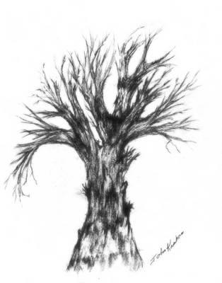 Drawing - Strengh by John Krakora