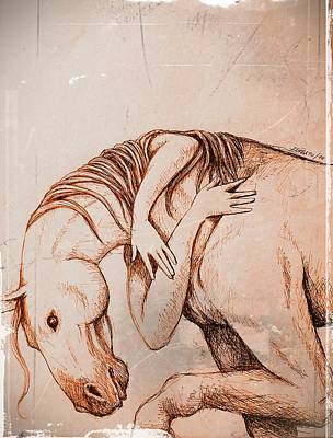 Strength And Affection Art Print by Paulo Zerbato
