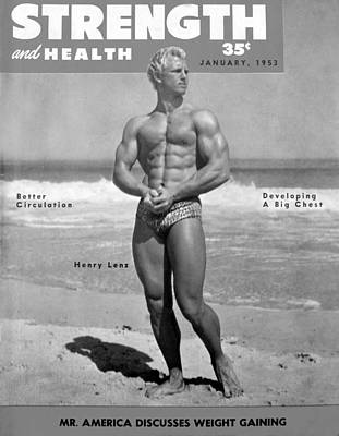 Lenz Wall Art - Photograph - Strength And Health Jan 1953 by David Lee Thompson