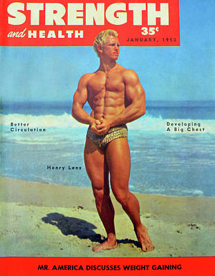 Lenz Wall Art - Photograph - Strength And Health Mag Jan 1953 by David Lee Thompson
