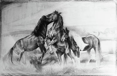 Strength And Honour- Mustangs Art Print