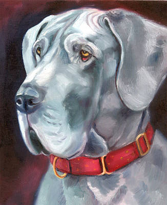 K9 Painting - Strength And Loyalty - Great Dane by Lyn Cook
