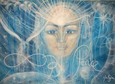 Visionary Art Painting - Strength And Peace by Helga Sigurdardottir