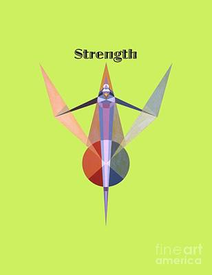 Painting - Strength Text by Michael Bellon