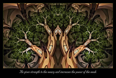 Digital Art - Strength To The Weary by Missy Gainer