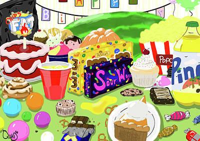 Snack Bar Digital Art - Stressed Spelled Backwards by Quad Johnson