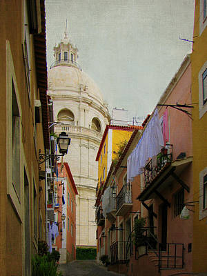 Photograph - Stret Scene In Alfama District Of Lisbon by Carla Parris