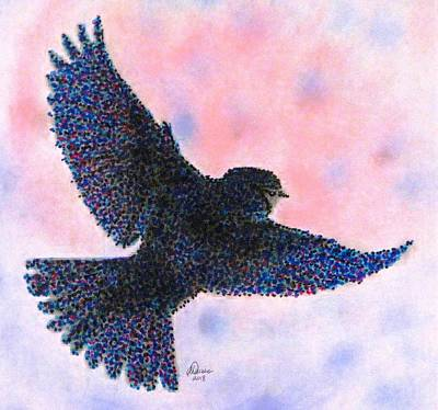 Drawing - Stretch Your Wings by Angela Davies