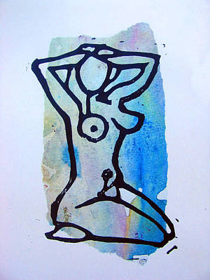 Printmaking Mixed Media - Stretching 3 by Adam Kissel