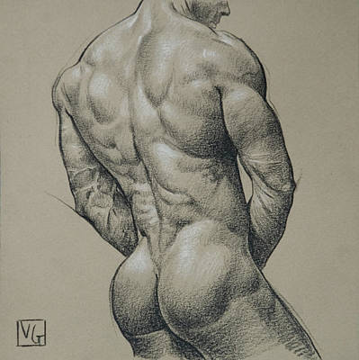 Hunk Drawing - Striation by Victor Gadino