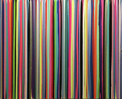 Painting - Striations Multi by Margalit Romano