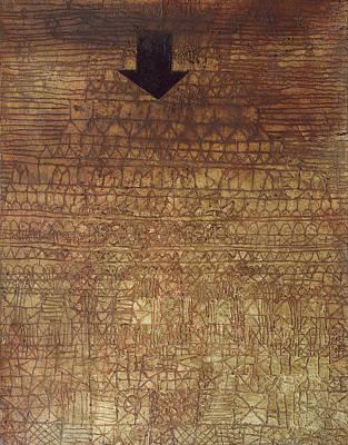 Geometric Painting - Stricken City by Paul Klee