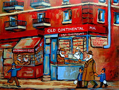 Quebec Streets Painting - Strictly Kosher by Carole Spandau