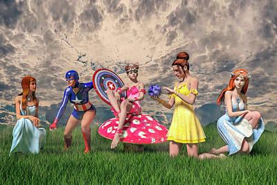 Strike A Pose Betsy C Knapp Art Print by Betsy Knapp