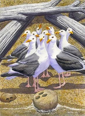 Beach Bird Painting - Strike by Catherine G McElroy