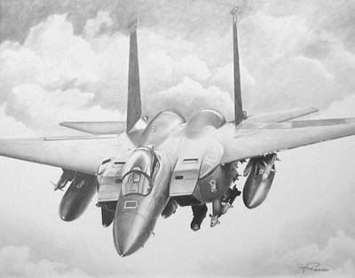 Iraq Drawing - Strike Eagle by Stephen Roberson