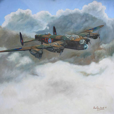 Raf Bomber Command Painting - Strike Hard Strike Sure by Paul Rowland