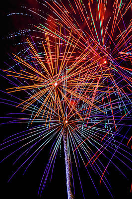 Photograph - Striking Fireworks by Garry Gay