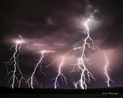 Lightning Bolt Photograph - Striking Memories Thunderstorm by Reid Callaway
