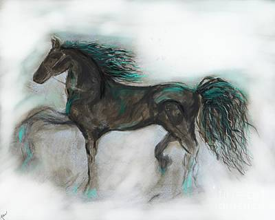 Painting - Striking Stallion by Leslie Allen
