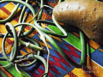 String Beans And Yam Art Print by Sarah Loft