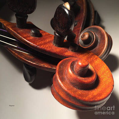 Violin Photograph - String Duet  by Steven Digman