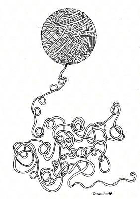Drawing - String Energy 2 by Quwatha Valentine